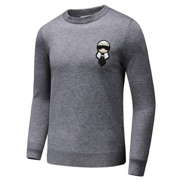 fendi mens Fendi FF pull hommes cuir hommes monstre concepteur marque pull curs knitwear chaud hiver pull cardigan coupe slim cachemire meilleure qualité