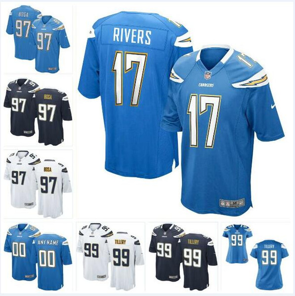 half off 5be59 2f56e 2019 Jerry Tillery Chargers Jersey Joey Bosa Philip Rivers Derwin James  Nasir Adderley Drue Tranquill Custom American Football Jerseys Stitched  From ...