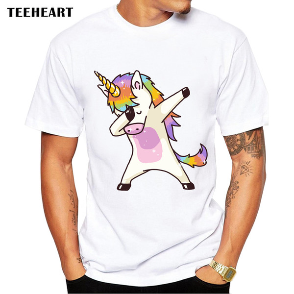 2017 sommer mode tupfen t-shirt männer lustige t shirts tupfen hip pop / cat / zebra tops t la591