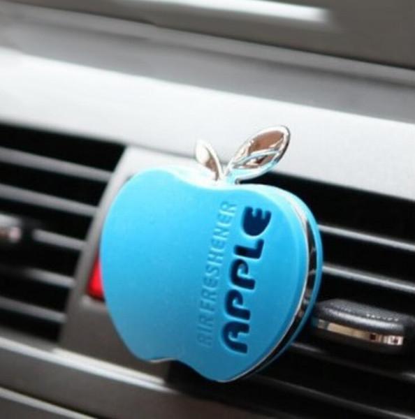 top popular Auto Car Perfume Car Air Freshener Perfumes 30g Various Odor Cute Apple Shape Car Perfume Auto Accessories Free Shipping 2020