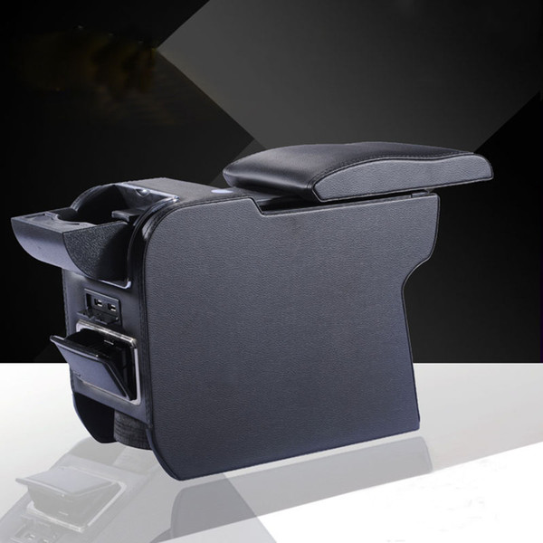 PU Leather Car Armrests Box Container Central Store Content Box For MINI Cooper One Countryman Clubman Car-styling Accessories