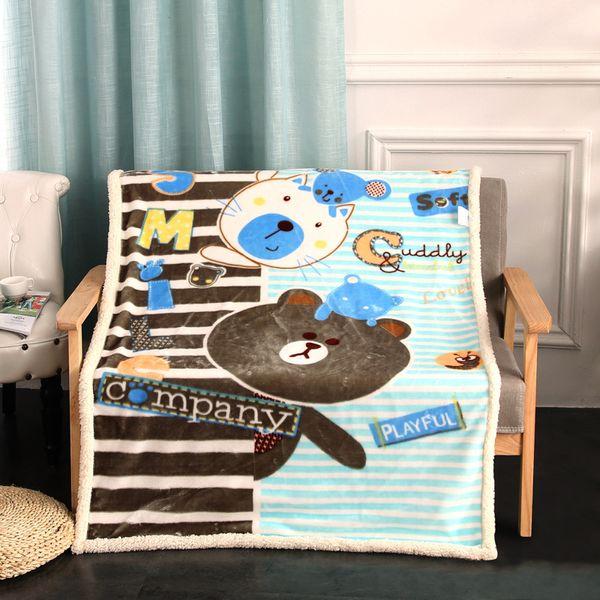 Terrific Beddingoutlet Bear Family Blanket For Kids Cartoon Microfiber Bedspread Lamb Plush Blanket On Bed Sofa Boys Bedding Dropshipping Blue Gray Throw Gamerscity Chair Design For Home Gamerscityorg