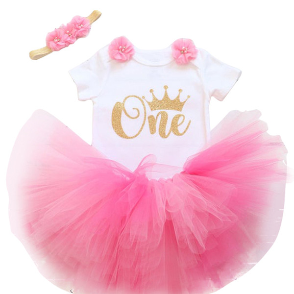 Cute Toddler Girl Baby Clothing Vestidos Baby 1 Year Birthday Unicron Party Girls Tulle Dress Niños Infant Party Cake Smash Outfit