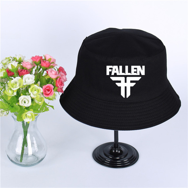Fallen Logo Summer Hat Women Mens Panama Bucket Hat Fallen Design Flat Sun Visor Fishing Fisherman Hat
