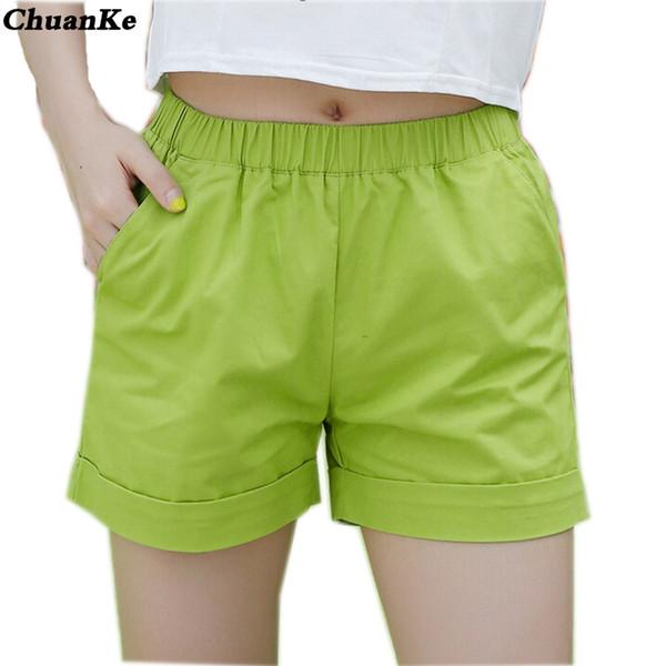 ChuanKe frauen shorts casual style damen shorts heißer verkauf plus größe baumwolle weibliche femininos neue 2017 sommer mode