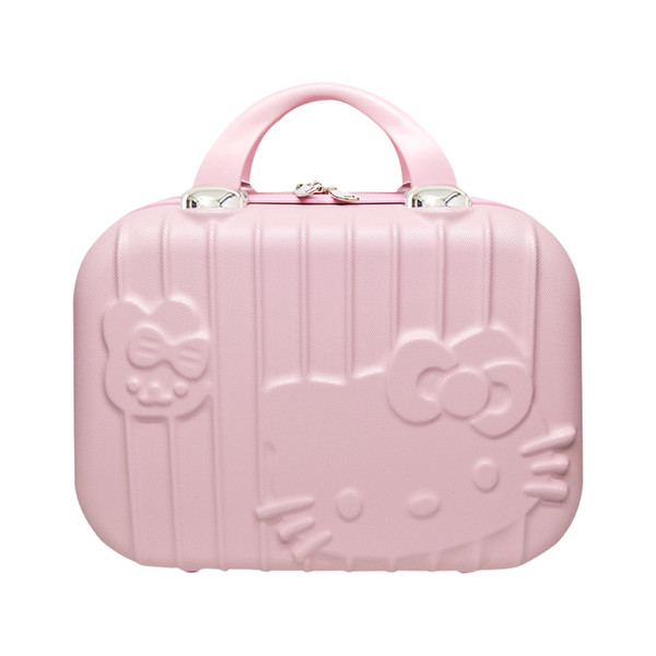 Cartoon Hello Kitty Cosmetic Bag Makeup Box Zipper Beauty Wash Case Portable Lady Toiletry Suitcase Travel Organizer Accessories Y19052501