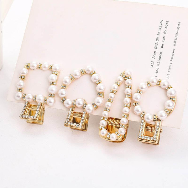 Mode Baby Mädchen Haarspangen Ins Perle Haarspangen Kristall Süße Mädchen Haarspangen Frauen Haarspangen Für Kinder Haarschmuck