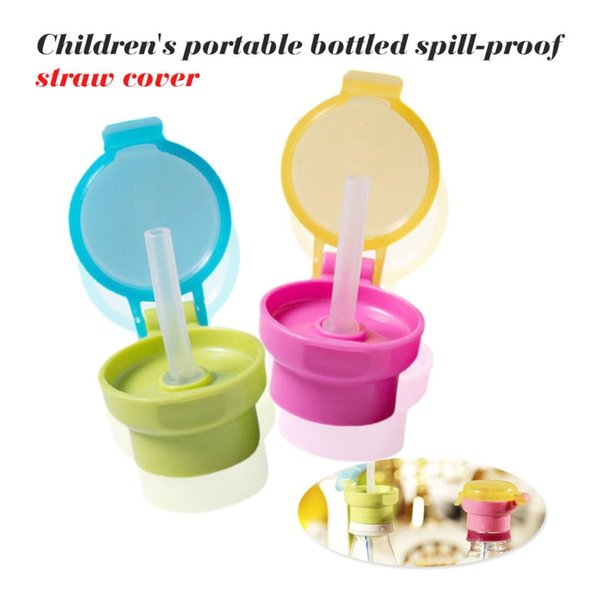 2.7cm No Spill Choke Cute Water Bottle Adapter Cap With Tube Drinking Straw For Baby Infants Kid Portable Hygiene Drink Feeder