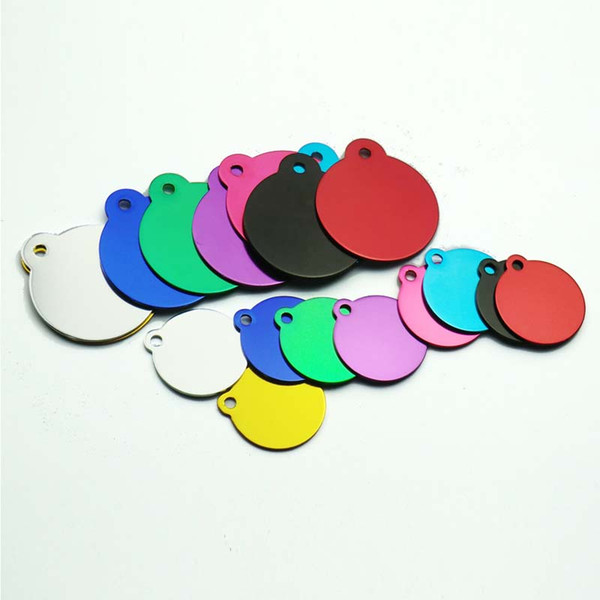 Home & Garden Wholesale 20pcs Pet Dog Cat Tag Id Aluminum Phone Telephone Supplies Alloy Round Shape Charm Pet Tags DIY Tags
