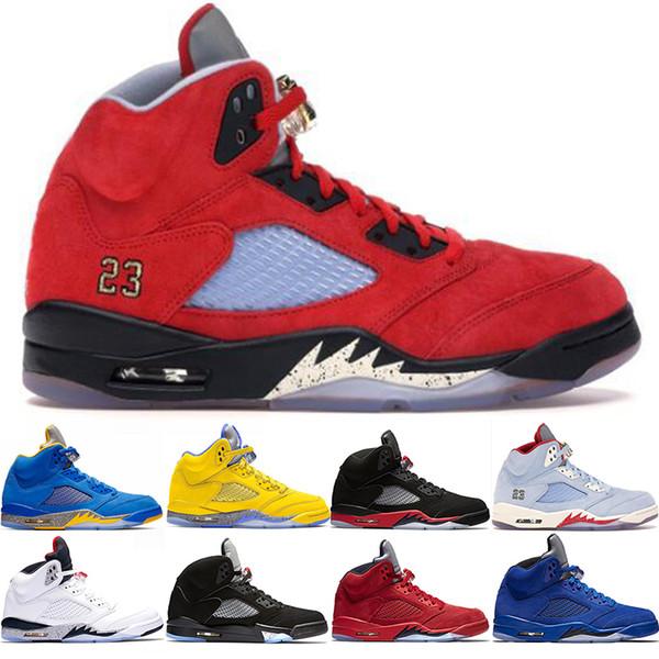 Nike Air Jordan 5 Retro Trophy Room 5s Ice Blue Zapatos De Baloncesto De Diseñador Para Hombre 5 Bred Laney Blue Rojo Gamuza De Cemento Blanco Sports
