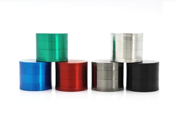 Moedores De Erva de Alta Qualidade Moedor de Tabaco de Liga de Zinco 4 Peças Moedores De Metal 40mm Grinder 5 Cores Ordem Da Mistura