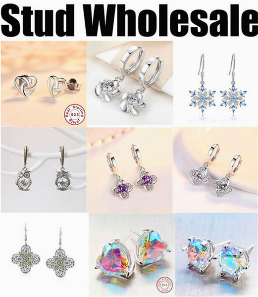 manufacturer wholesale earrings stub for women cheap high quality silver jewelry 2019 new free shipping designer colorful polygon