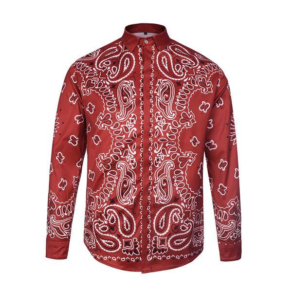 Medusa 3D Print Shirts New Arrival Top Quality Designer Clothing Men's Fashion Shirts asian Size M-3XL 9981