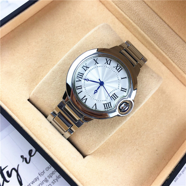 Yüksek kaliteli lüks gümüş elmas İzle Erkekler Paslanmaz kadınları Moda Unisex Saatler severler saat toptan eşya fiyat lumious elini saatler Çelik kafes oymalı