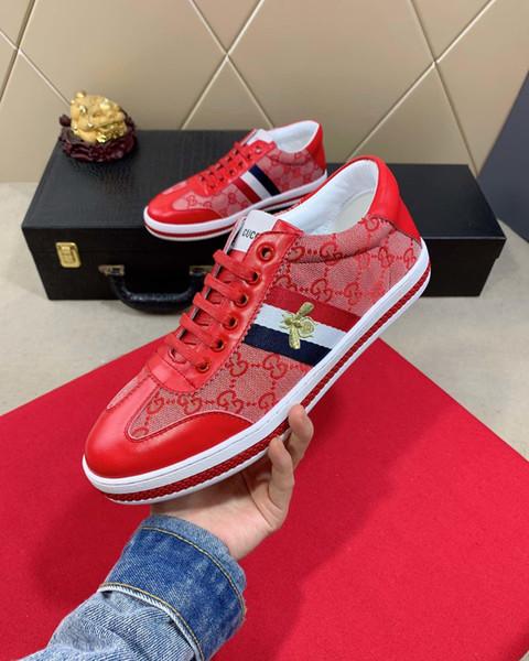 Calzado deportivo casual de alta gama para hombre 2019b zapatos de moda de marca plana tamaño 38 ~ 45, entrega de DHL para enviar un juego completo de caja de zapatos original