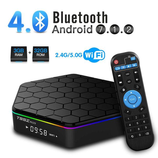 top popular T95Z Plus Amlogic S912 TV Box 2GB+16GB Octa-core Dual Wifi 2.4G+5G BT4.0 H.265 Android 7.1 Smart TV Box 2020