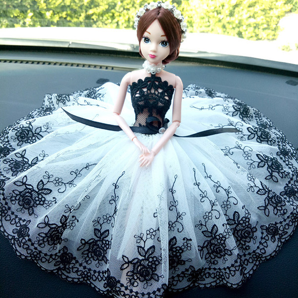 For Use Originality Vehicle Wedding Dress A Doll Wedding Dress Vehicle Cling To Than A Doll Lovely Gift In Control Platform Decoration For For Use Originality Vehicle Wedding Dress A Doll Wedding Dress Vehicle Cling To Than A Doll Lovely Gift In Control Platform Decoration