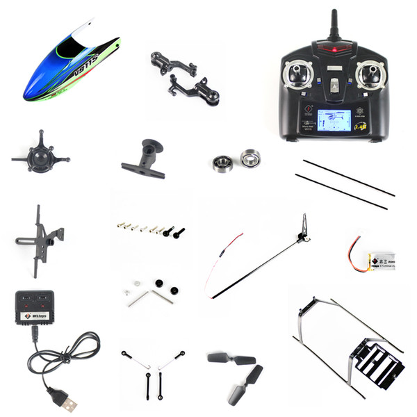 WLtoys V911S RC Helicopter Spare Parts Charger Battery Case Blade Landing Gear Motor etc. Replacement Parts