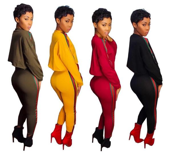 2019 мода спортивные костюмы женские топы футболка толстовка + брюки из двух частей набор панелями полоса спортивные костюмы женщины активные толстовки толстовка