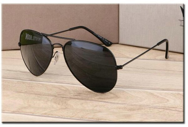 Haute Qualité soleil Marque Designer lunettes miroir Gold Frame lunettes de soleil pilote lunettes de soleil classique de la mode des femmes UV pour hommes