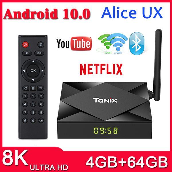 top popular New TX6S TV Box Android 10.0 H616 4GB 64GB 2.4G 5G WiFi BT Set Top Box 2021