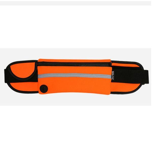 2019 Breathable Reflective Waterproof Zipper Messenger Bags Phone Case Outdoor Fitness Running Sportswear Waist Bag Heuptas