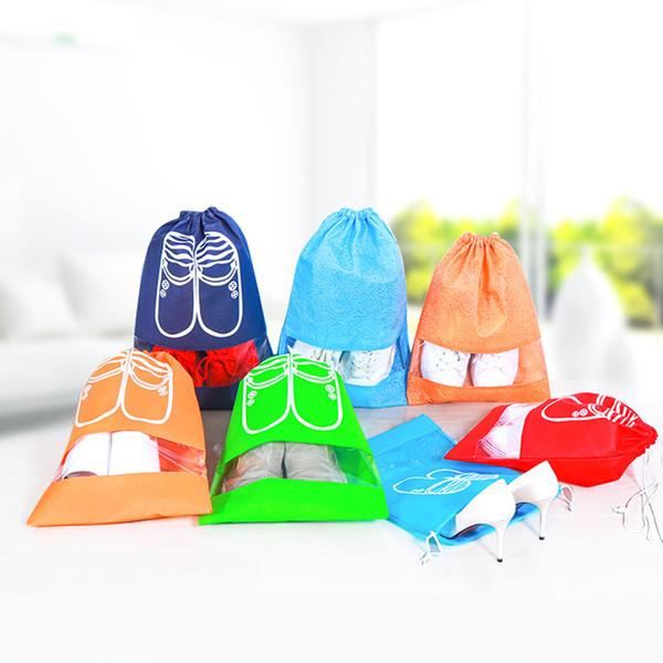 Große größe wasserdichte schuhe taschen beutel frauen reisetasche tragbare kordelzug verpackung organizer für männer journay organizador tasche