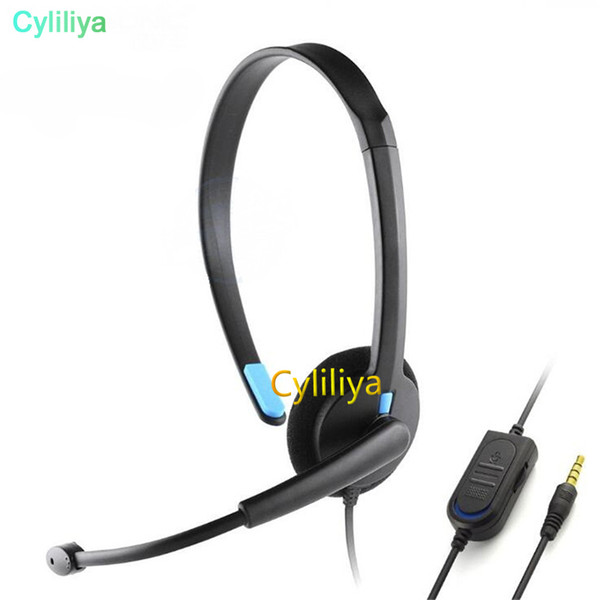 best selling Black 3.5mm Single Headphone Headset With Microphone Wired for Sony PS4 PlayStation 4 X-ONE Xbox one Gaming Earphone