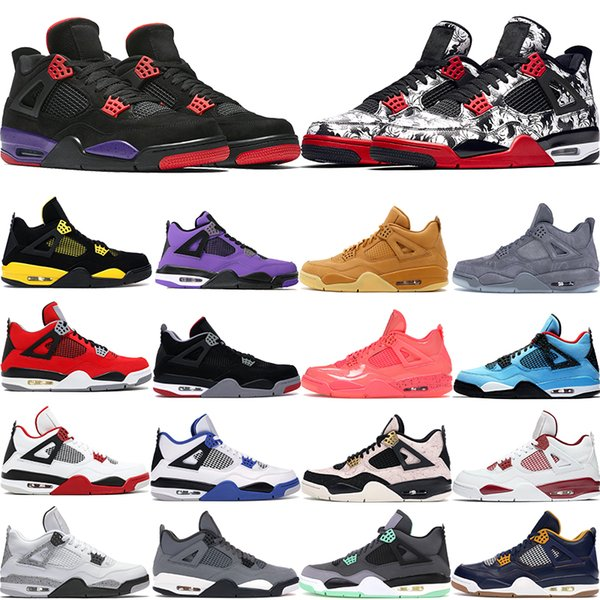 2020 meistverkauften gezüchteten Höhlen grün wachsen Tatoo Rapotors 4s Basketballschuhe Männer Schlick rot splatter heißen Schlag Weißzement Designer-Schuhe