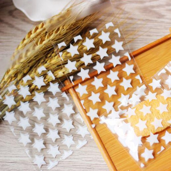 8x10 +3 cm Star Design Adhesive Bag Cookies DIY Gift Bag For Christmas Wedding Party Candy Food Packing