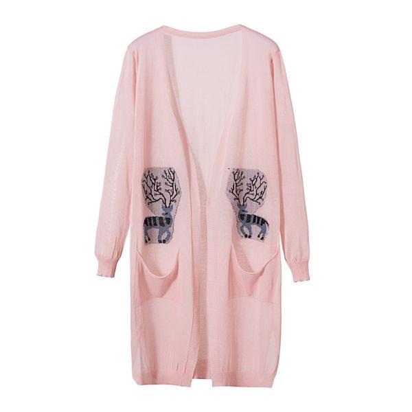 2019 primavera verão cardigan proteção solar mulheres trench coat camisola longa seção fina ar condicionado feminino rosa roupas