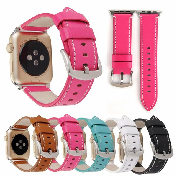 Exquisite Soft Cowhide Leather Watchband Replacement Wrist Band Straps For Apple Watch Band series 38mm 42mm iwatch Strap High Quality