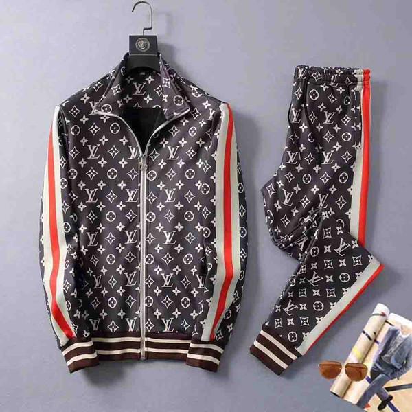 dos homens Terno Tracksuits capuz Ternos Sports Men jaquetas Brasão Mens Medusa Sportswear camisola Treino Jacket define M-3XL