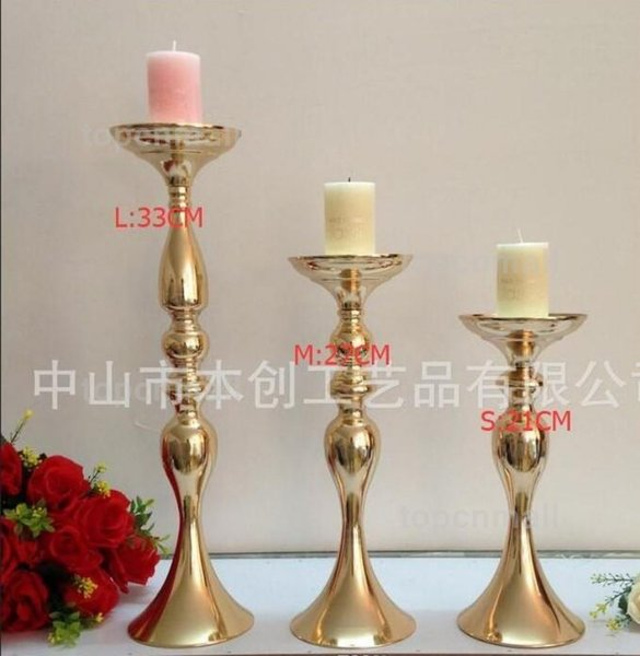 Wedding Candle Holders Stand New Style European Iron Art Flower Bracket Wedding Decorations Gold Silver