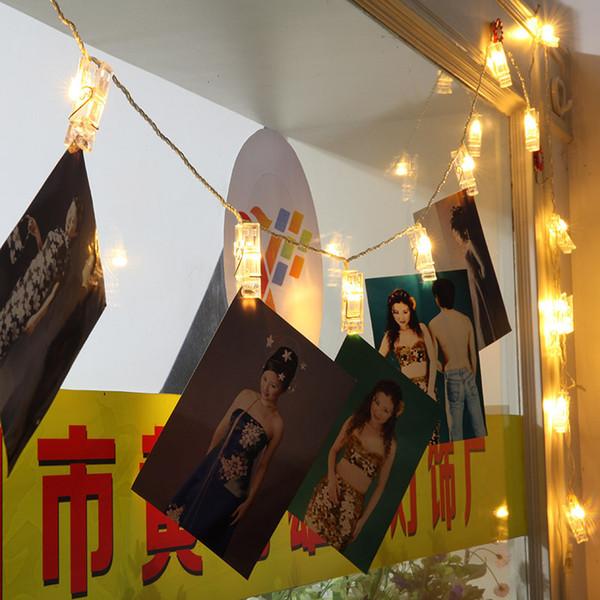 Yıldız Işık Ağ Kırmızı Küçük Peri Odası Dekorasyon Düzenlemesi 40 Kafa Led Renkli Işıklar Fotoğraf Klip Lamba Dize