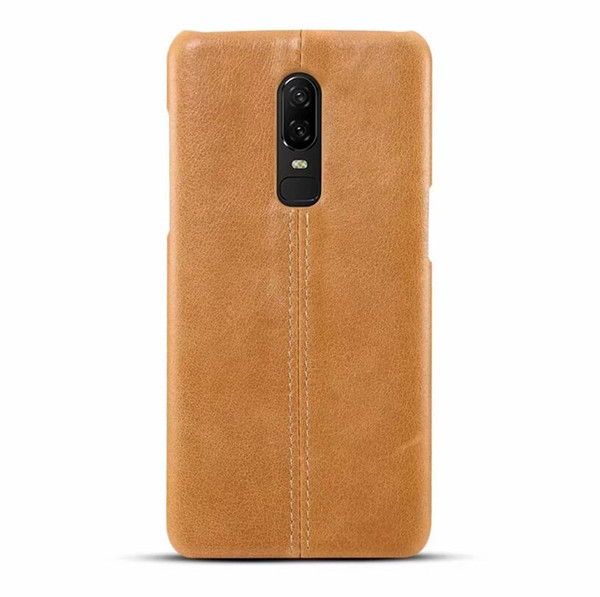Quality For Oneplus 6 Case Back Cover Luxury Colorful Ultra-Thin Original Genuine Leather Case For Oneplus 6 / 1plus 6
