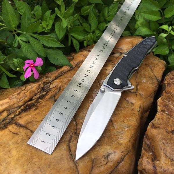 Black Hawk Открытый карманный складной нож для кемпинга D2 лезвие из нержавеющей стали с черной ручкой G10 Стальная шарикоподшипниковая конструкция