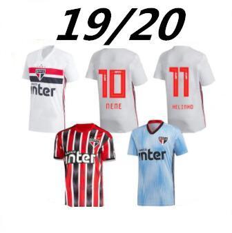 2019 Brasil Sao Paulo Camisetas de fútbol 19/20 local NENE HELINHO PABLO HERNANES Camiseta de fútbol Visitante PERES Tercero Uniformes de fútbol