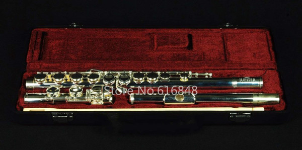 C Tone Flute Jupiter JFL-507S Brand New 16 Holes Closed Musical Instruments Flute Cupronickel Silver Plated With E Key With Case Accessories