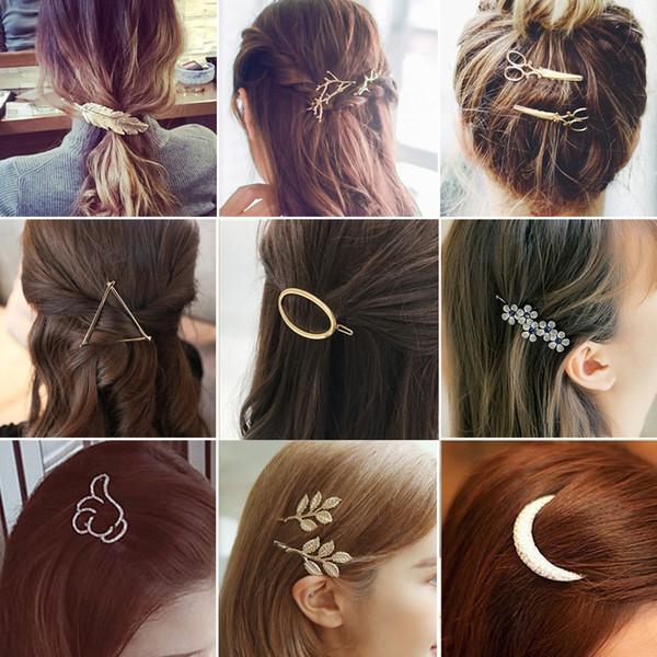 d22ed65404828 Moda Geometría Horquillas Mujeres Niñas Broche para el cabello Pin Pasadores  Accesorios para el cabello Mujeres