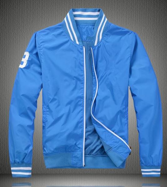 Hot! Men's stand collar jacket mouth neckline color stripes men's jacket windbreaker men's jacket lining grid