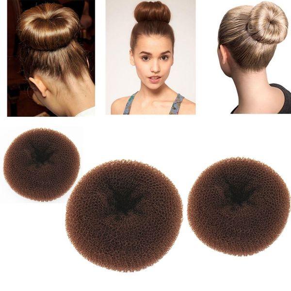 2019 Classy Brown Round Hairdressing Tool 2019 Former Donut Doughnut Ring Styling Mesh Chignon Bun Maker From Super002 0 76 Dhgate Com