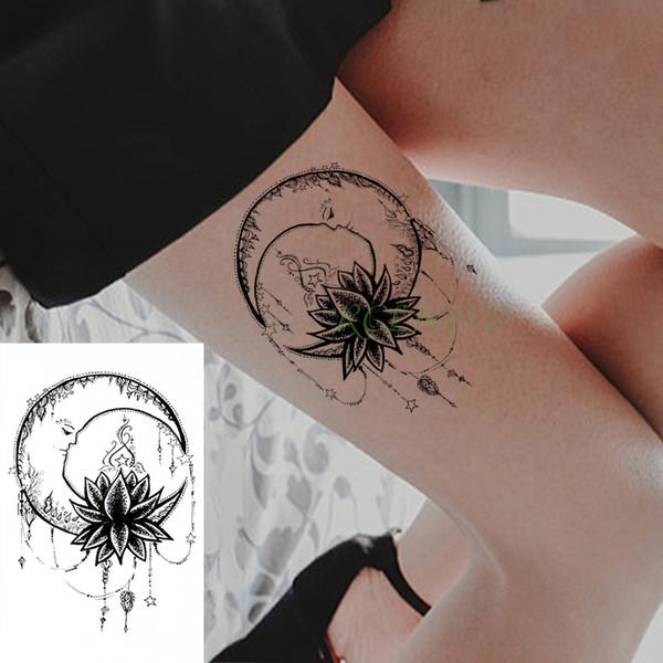 Tatuaje Temporal A Prueba De Agua Pegatinas Luna Flor Estrella Collar Falso Tatuaje Flash Tatuaje Cuerpo Arte Tatuajes Para Niña Mujeres Hombres Niño