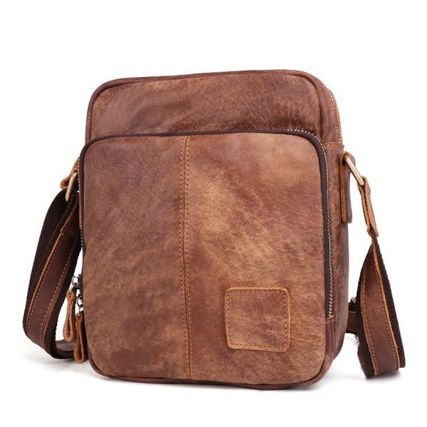 Fashion Leather Messenger Bag Male Business Hand Bags Leisure Shoulder Cross Body Bags Handbag Tote Bag