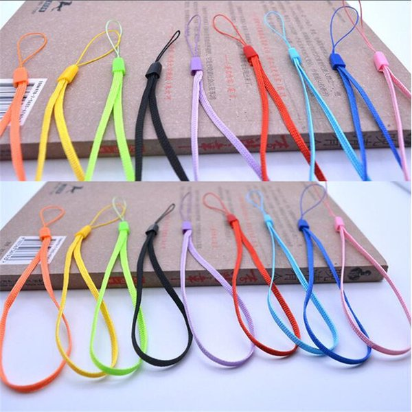 cell phone wrist hand Straps Colorful straps Nylon Short Hang Wrist Ropes Hang Rope Lariat Lanyard for Phone Camera USB MP4/3 PSP