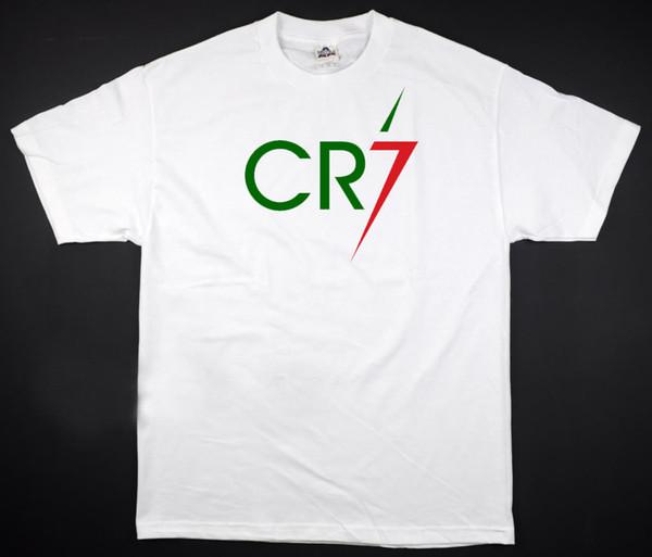 CR7 - White T-Shirt Football Soccer Euro Cristiano Ronaldo All Sizes S-3XL