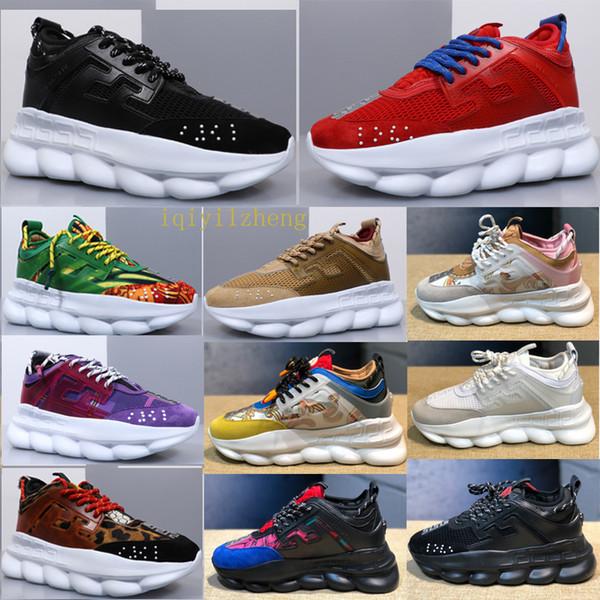 Los zapatos de diseñador de lujo de reacción en cadena de alta calidad impulsan a los hombres y las mujeres usan 2019 nueva área de moda Medusa LUX Chaussures De Homme mujeres 31565055174