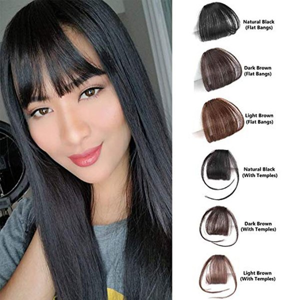 top popular Clip In hair Bangs Extensions Hand Tied Hair Bangs with Temples blonde 100% Real human bangs For Women 2019