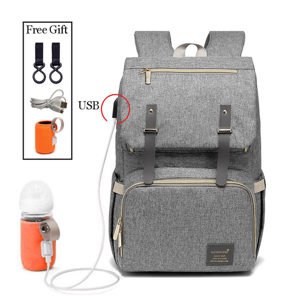 Fashion Large Capacity Baby Nappy Bag Diaper Purse Multifunction USB Mummy Travel Backpack lady Nursing s For Mom Daddy