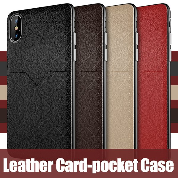 New luxury leather cases for iphone XR XS MAX X 6S 7 8 plus cell phone case card slots for Samsung Galaxy S8 S9 S10 Plus Note 8 9 slim